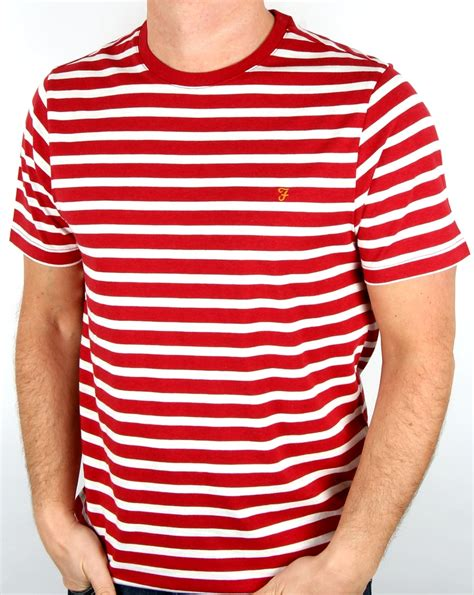Striped Shirt farah lennox striped t shirt marl s
