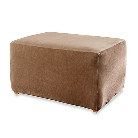 Ottoman Slipcover by Sure Fit 174 Stretch Stripe Ottoman Slipcover Bed Bath Beyond