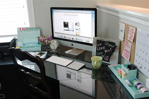 How To Organize Office Desk Organized Desktop With Martha Stewart Simply Organized