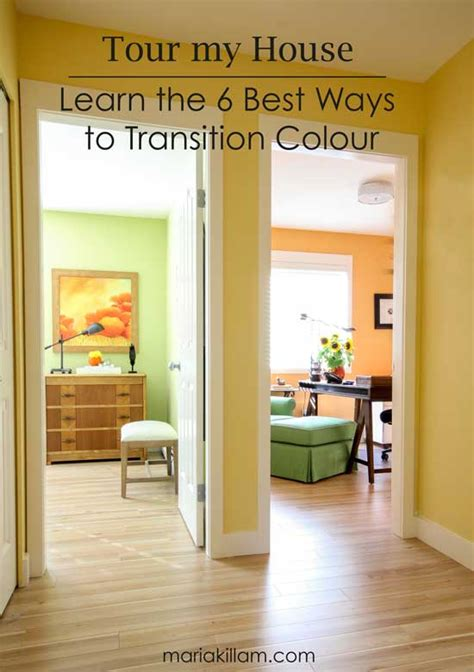 tour my house learn the 6 best ways to transition colour killam the true colour expert