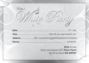 all white invitations theruntime