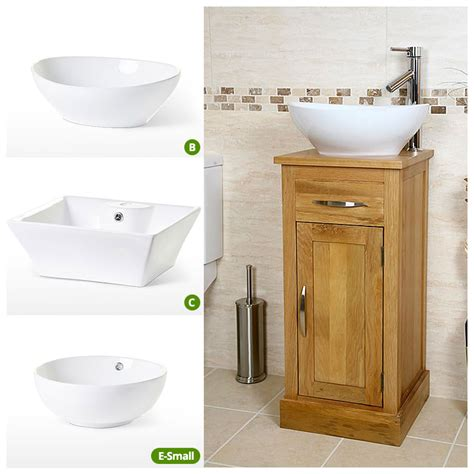 50 compact oak cloakroom vanity unit with basin sink