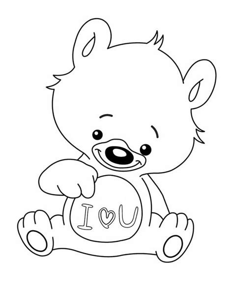 i love you teddy bear coloring pages teddy bear love coloring pages