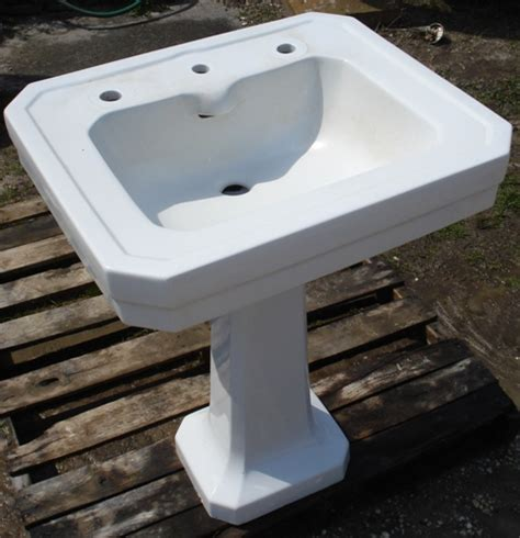 art deco pedestal sink recycling the past