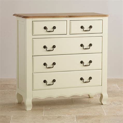 painted 3 2 drawer chest in brushed oak