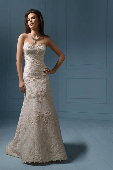 strapless fitted gown with beading from