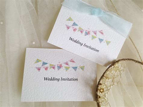 Summer Bunting Top Fold Wedding Invitations