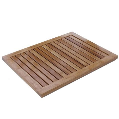 Outdoor Shower Mat by Bamboo Bathroom Floor Bath Tub Shower Wood Door Mat Spa