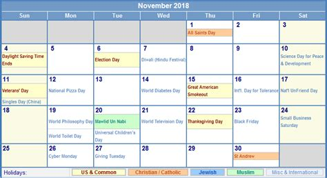 Calendar 2018 Thanksgiving 28 When Is Thanksgiving 2018 Happy Thanksgiving Day