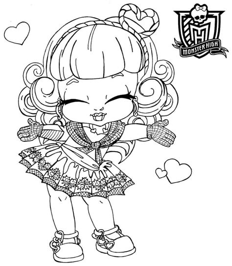 Coloring Pages Baby Monster High Coloring Pages Monster Baby High Colouring Pages