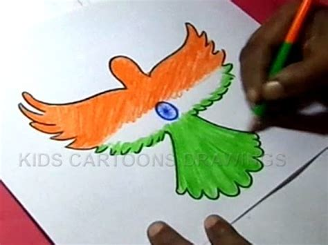 drawing themes for independence day how to draw independence day parrot design step by step