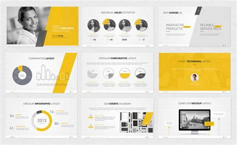 layout design of ppt powerpoint template by design district via behance