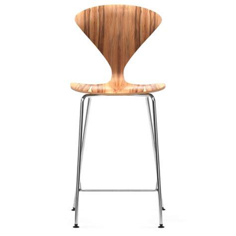 norman cherner counter bar stool chrome base in gum
