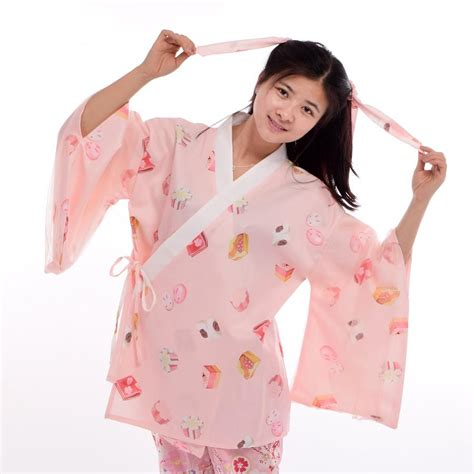 Japan Style Blazer 1 japan style kimono jacket kawaii summer wagashi cake print haori trench coat white