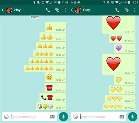 cadenas whatsapp emojis as 237 puedes cambiar el tama 241 o de los emojis en whatsapp