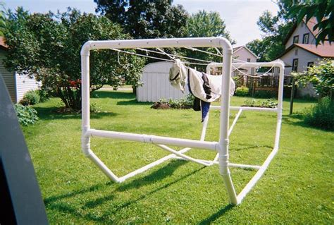 diy outdoorsman projects pvc garden projects stand alone pvc clothesline