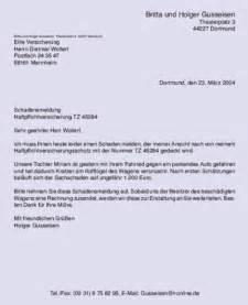 Schluss Brief Anfrage Gesch 228 Ftsbriefe Musterbrief Schadensmeldung Brief