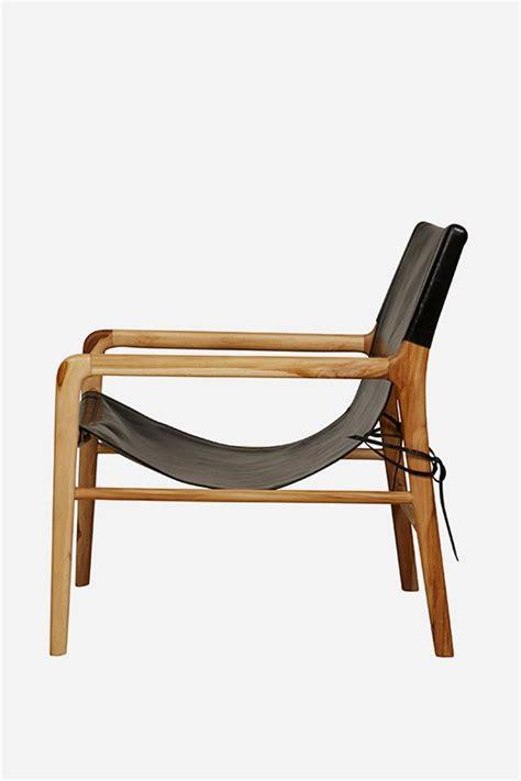 Chair Slings by Leather Sling Chair Teak Black