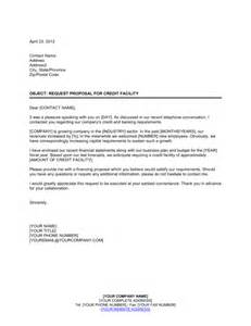 Credit Facility Letter From Bank Request For Credit Facility Template Sle Form Biztree