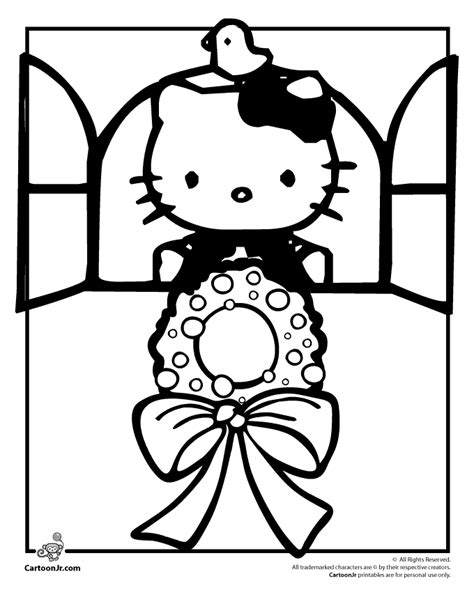 hello kitty merry christmas coloring pages awesome hello kitty merry christmas coloring pages