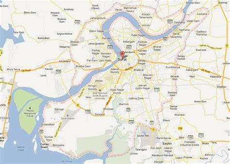 surat city road map surat map and surat satellite image