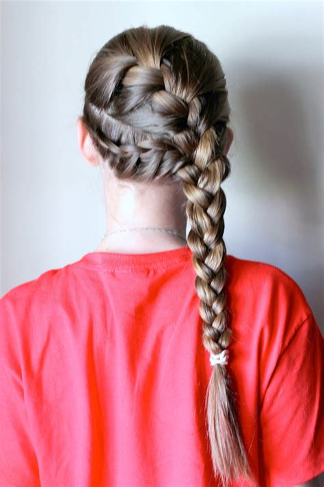 quick and easy volleyball hairstyles quick tanglefix after school activity girls hairstyle