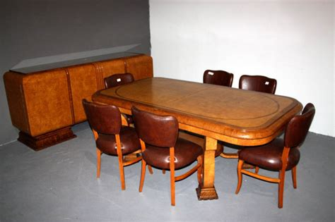 art dining room furniture antique art deco dining room set chairs sideboard table for sale antiques com classifieds