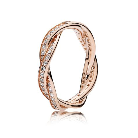pandora rings twist of fate pandora rose clear cz pandora jewelry us