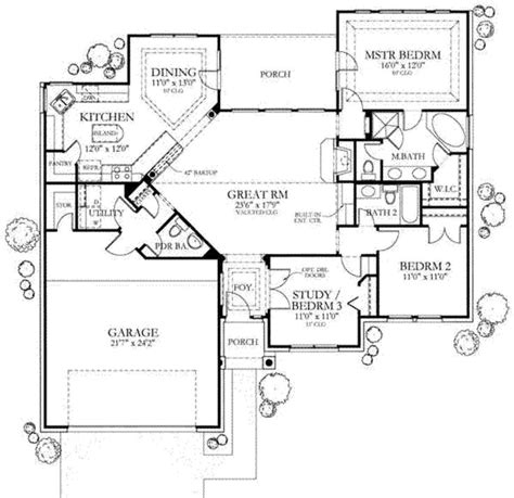 1500 sq ft home main floor plan 1500 sq ft small house plans