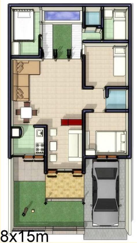 Desain Rumah Ukuran 8x15 1 Lantai | desain denah rumah minimalis 8x15 1 lantai inspiratif