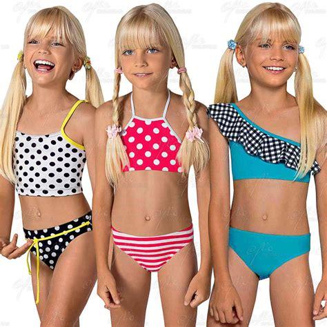 young teenagers ages 11 13 bikinis l525354 girls multicolor polka dots pattern bikini age 8 9