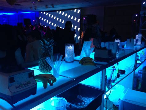 white themed night club interior decorating accessories