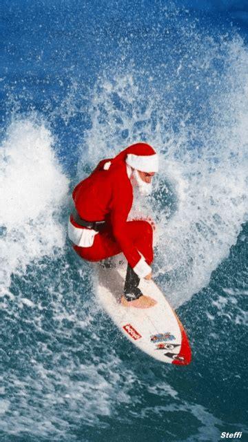 surfing santa mobile screensavers  mobile