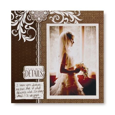 scrapbook wedding layout ideas diving wedding 8x8 scrapbook layout page idea from
