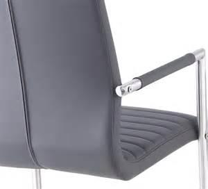 fauteuil de salle 224 manger design m 233 tal et pu gris lot de