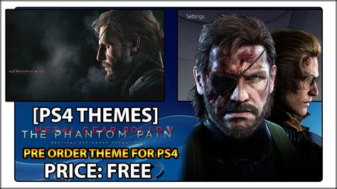 ps4 themes metal gear solid ps4 theme metal gear solid v the phantom pain youtube