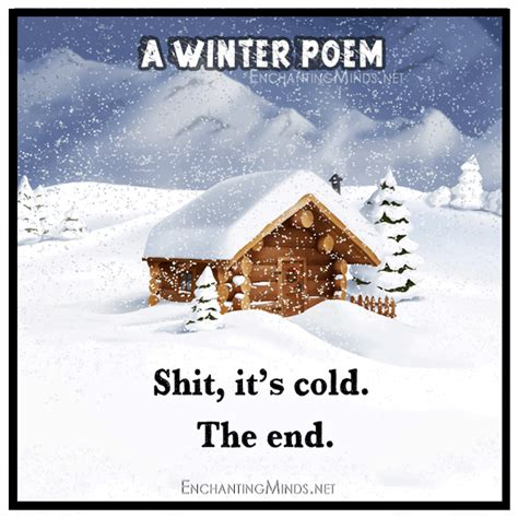 Memes About Winter - a special winter poem