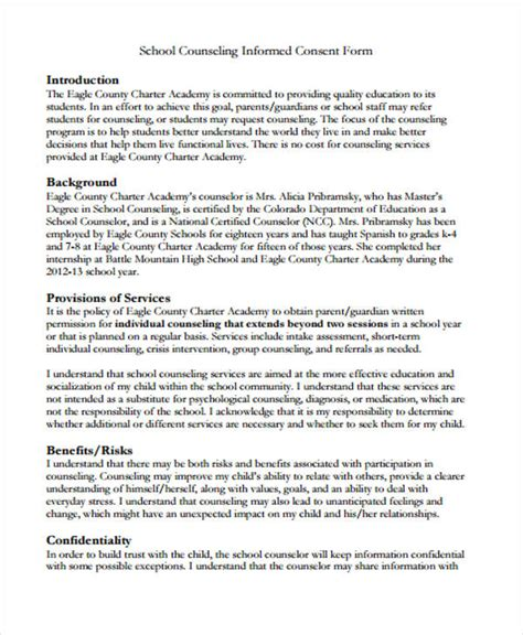 counseling release of information form template 48 counseling form exles