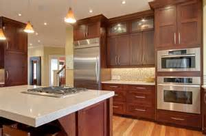 Cherry Cabinet Kitchens Best Granite Countertops For Cherry Cabinets