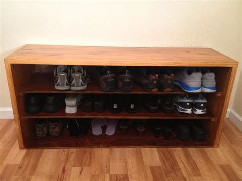 garage shoe storage bench rectangle brown wooden shoes bench with three row shoes