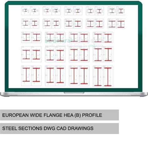 w section sizes european wide flange hea heb profile steel sections dwg