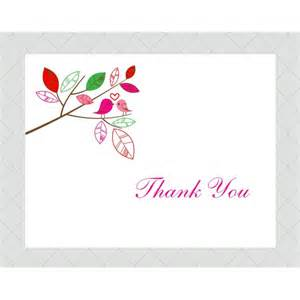 bird thank you cards style 399 whimsicalprints