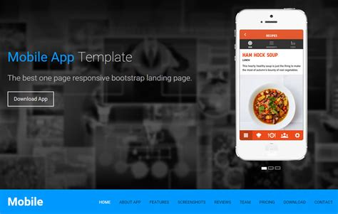 free html5 mobile app templates free app landing page web template