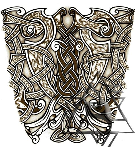 nordic design tattoo nordic sleeve ideas vikings