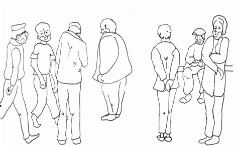 Drawer Person by Line Drawing