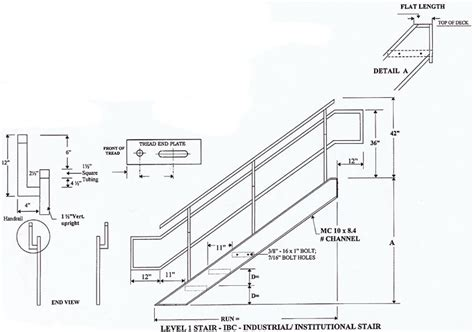 ibc stair design industrial institutional ibc stairs ibc prefab steel
