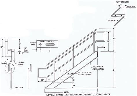 Industrial/Institutional IBC Stairs, IBC Prefab Steel