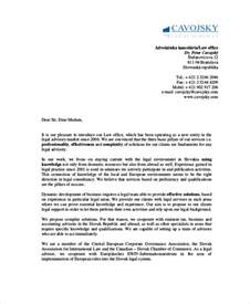 Firm Introduction Letter Sle Business Introduction Letter New Clients Cover Letter Templates
