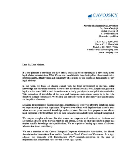 Business Introduction Letter Model sle business introduction letter new clients cover