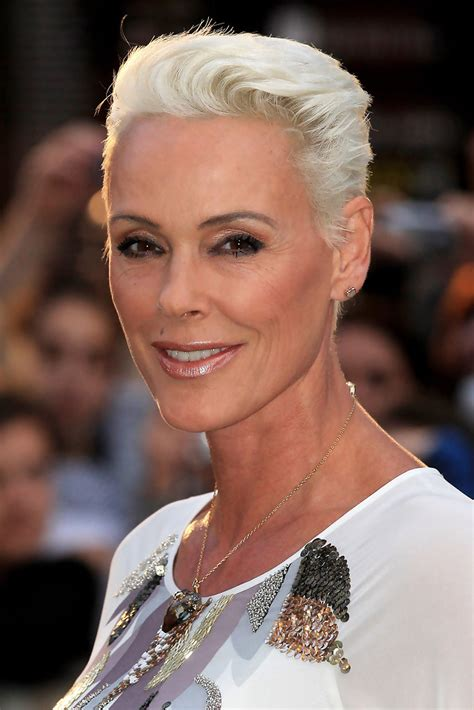 cropped hairstyles for women over 50 brigitte nielsen s cropped haircut haute hairstyles for